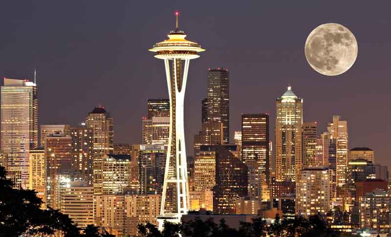 シアトル夜景画像