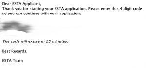 ESTAの認証番号